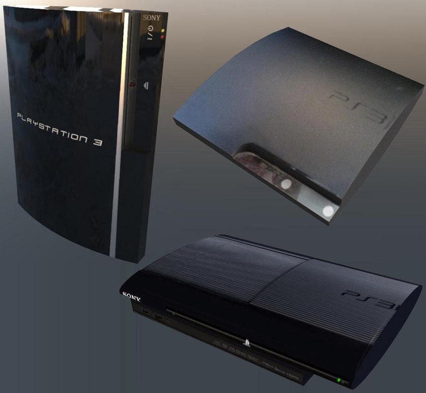 Ps3 fat slim superslim 3D model - TurboSquid 1355262