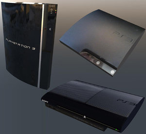 ps3 fat slim superslim 3D model