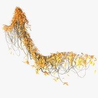 ivy pbr branches 3D model