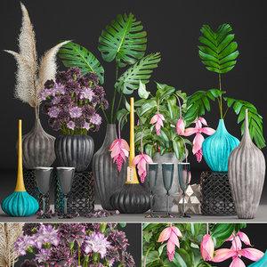 3D flower bouquets model