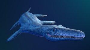 3D liopleurodon ar vr mobile model