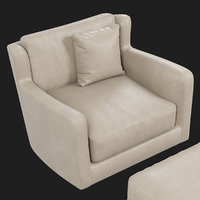 Baxter Bergere armchair and pouf