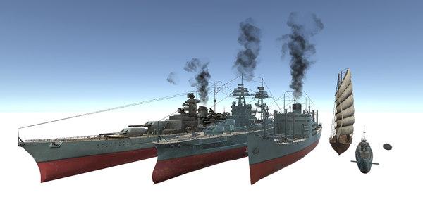 ship set old model