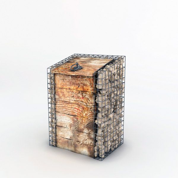3D wooden wire bin