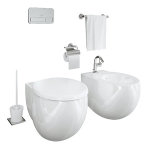3D villeroy boch toilet aveo model