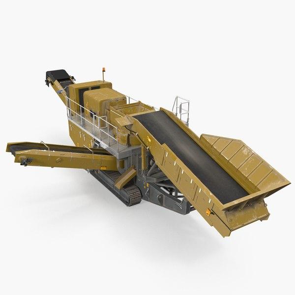 3D hydraulic cone crusher machine model