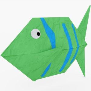 origami fish model