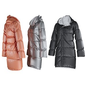 3D womens winter coat