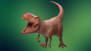 3D model t rex ar vr