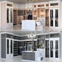 3D closet black white model