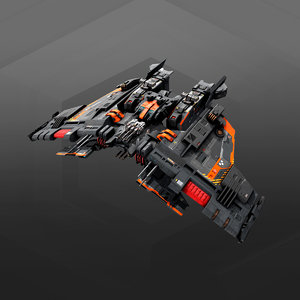 frigate gx8 3D
