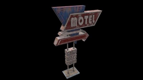 signboard 3D model