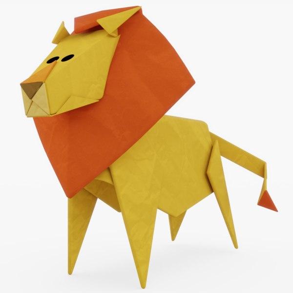 origami lion – do origami | 600x600