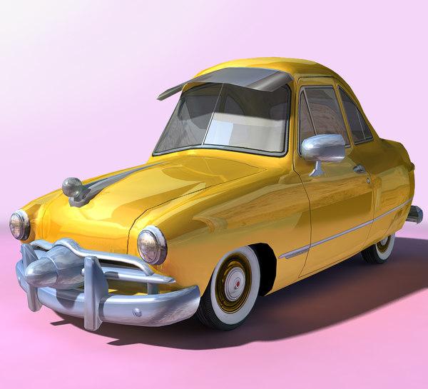cartoon sedan games 3D model