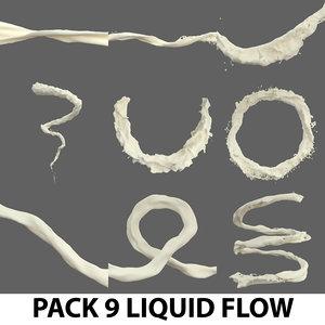 liquid flow pack water model