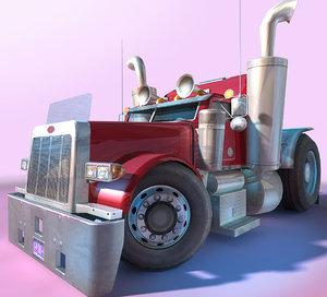 generic - cartoon truck games 3D model