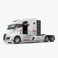 Nikola One Electric Semi Truck Rigged 3D Model