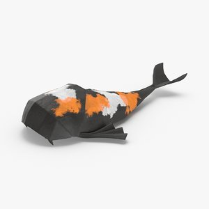 koi-fish----black 3D