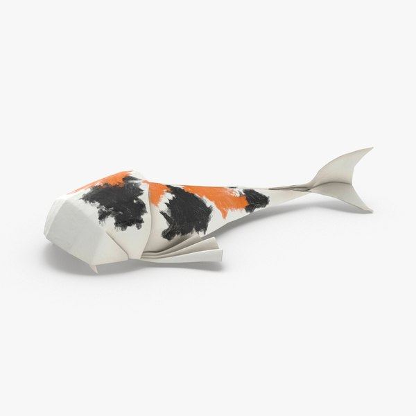 3D koi-fish----white model