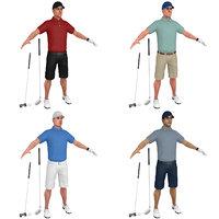 3D pack golfer s
