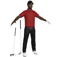 golfer clubs ball model
