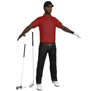 golfer clubs ball model