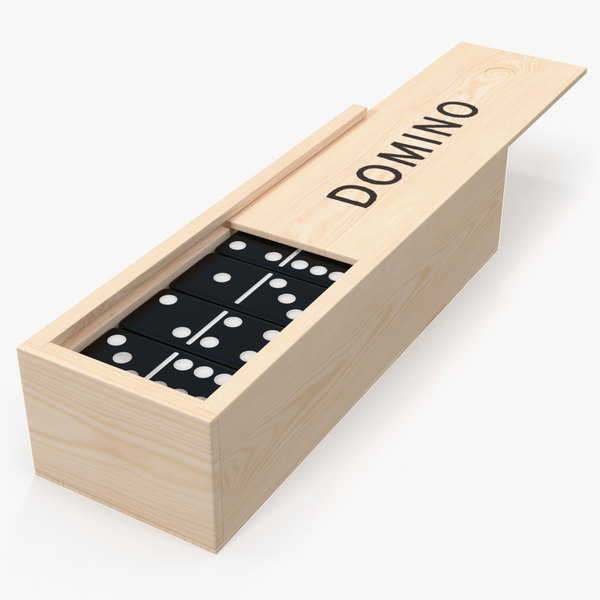 3D black domino knuckles wooden box