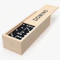 Black Domino Knuckles in Wooden Box