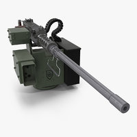 browning m2 50 caliber 3D model