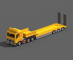 3D voxel truck loader trailer