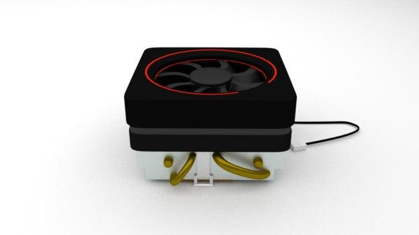 wraith cooler 3D model