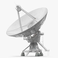 3D big satellite antenna rotate model