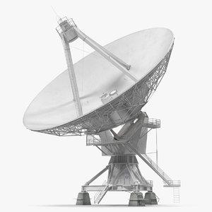 3D big satellite antenna rotate model