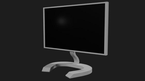 modern computer monitor 3D model