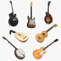 Stringed Instruments 3D Models Collection 2