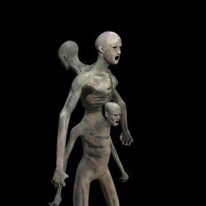 creature zombie mutant 3D model