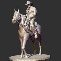 cowboy sculpture 3D model