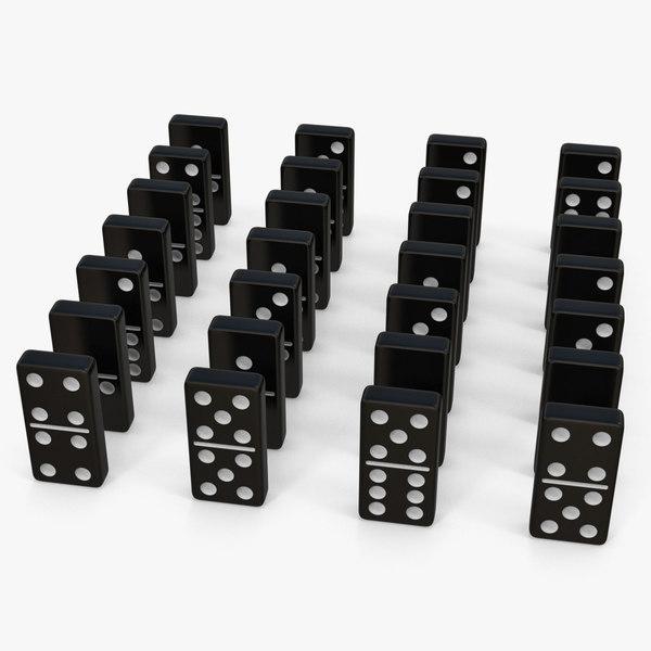 3D black domino knuckles set