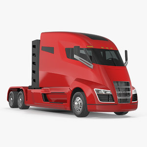 3D nikola electric truck simple model
