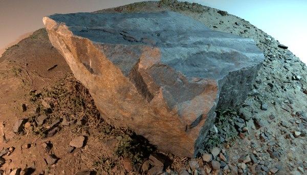 rock granite quarry 3D model