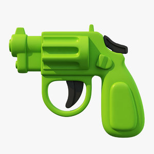 3D toy pistol model