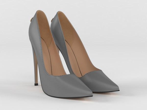3D women pointy toe heels model
