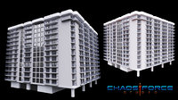 3D Miami Beach Residential Building 02