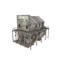3D western house games model