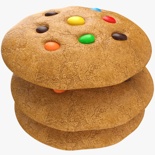 cookie modeled 3D