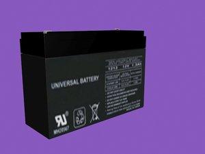 3D model 12v battery