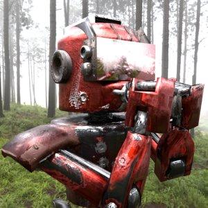 blender robot 3D model
