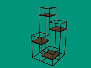 tall plant stand 3D model