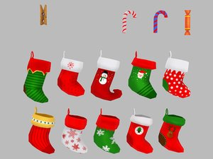 3D christmas socks