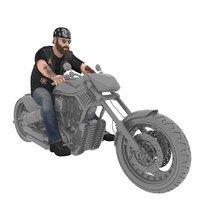 rigged biker model